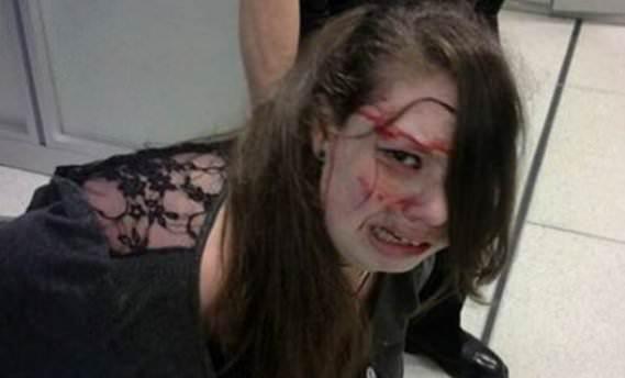 ABD'de 19 yaşındaki kıza güvenlik dayağı