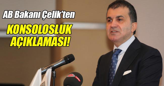 AB Bakanı Çelik'ten konsolosluk açıklaması