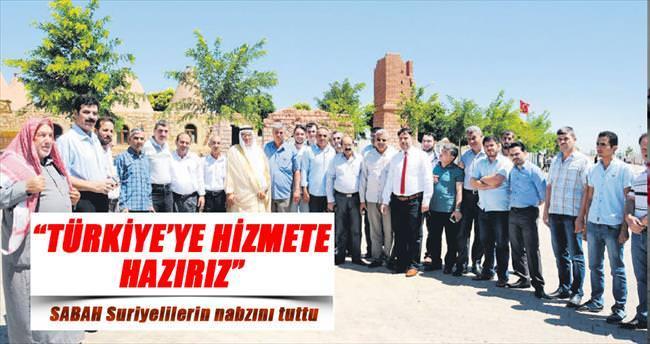 Türkiye vatanımız hizmete hazırız
