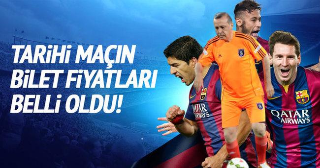 Cumhurbaşkanı Erdoğan'ın oynayacağı maçın biletleri belli oldu