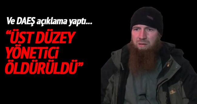 DAEŞ Ömer Şişani'nin öldüğünü doğruladı