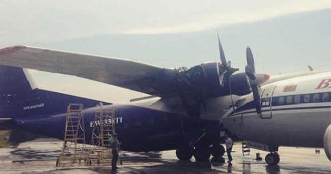 Minsk'de uçaklar çarpıştı