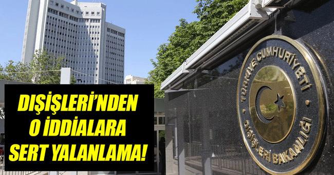 Dışişleri Bakanlığı Sözcüsü Bilgiç'den o iddialara yalanlama