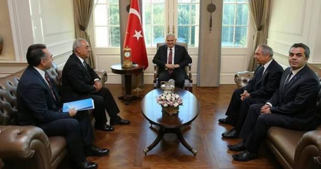 Başbakan Yıldırım'ın DSP Genel Başkanı Aksakal'ı kabulü