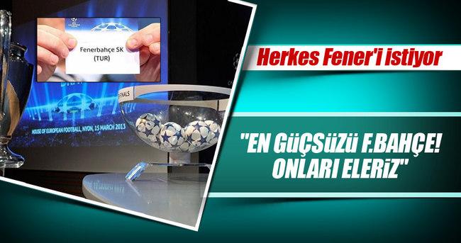 Şampiyonlar Ligi'nde muhtemel rakipler Fener'i...