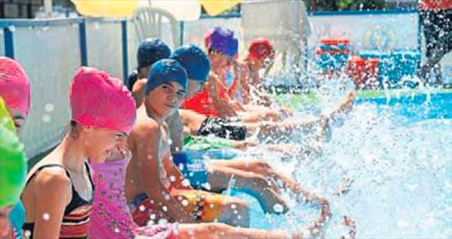 Buca'da havuz coşkusu başladı