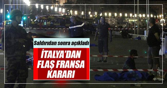 İtalya'dan Fransa saldırısı sonrası flaş karar