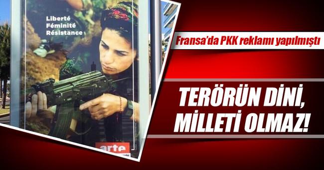 Fransa sokaklarında PKK reklamı yapılmıştı