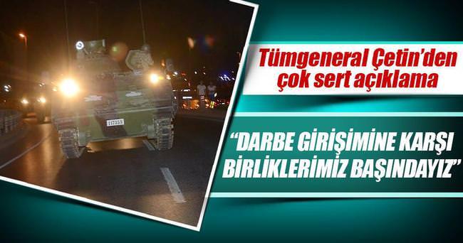 Jandarma Harekat Başkanı: TSK darbe girişimini reddediyor