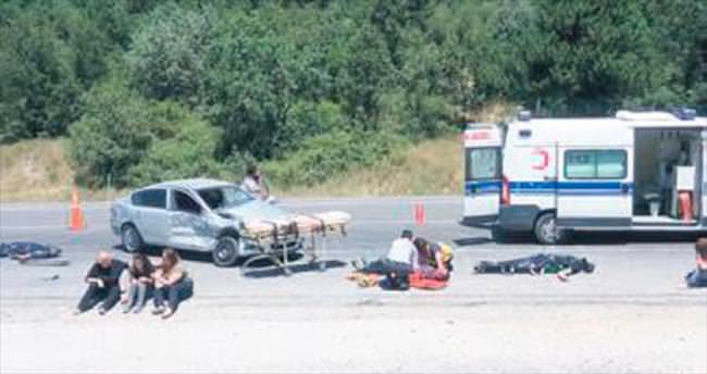 Hâkim ve savcı adaylarına kaza tatbikatı