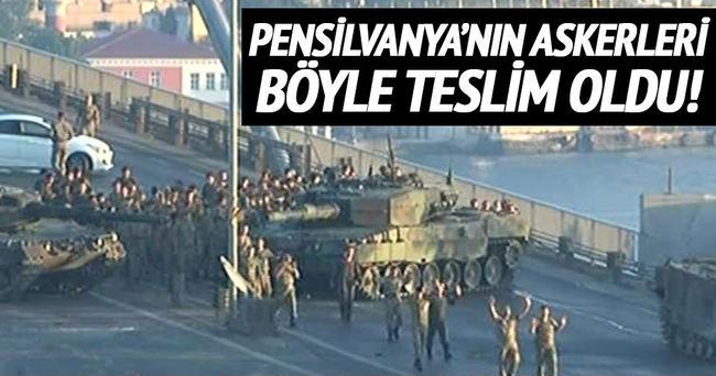 Boğaziçi Köprüsü'ndeki FETÖ'cü teröristler teslim oldu!