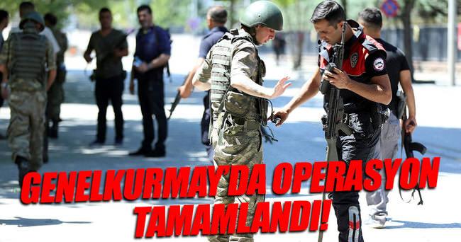 Genelkurmay'da gözaltı operasyonu tamamlandı