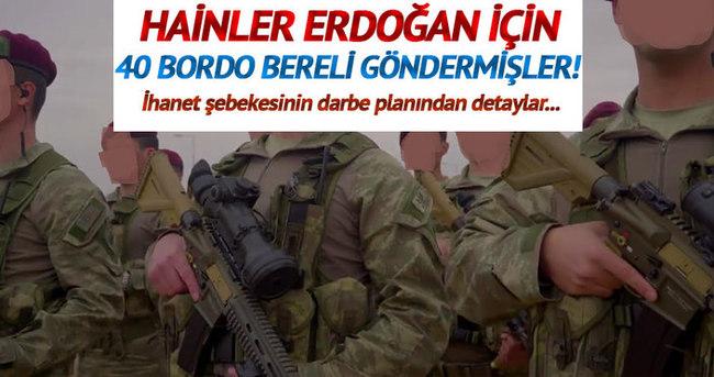 Erdoğan için 40 bordo bereli göndermişler