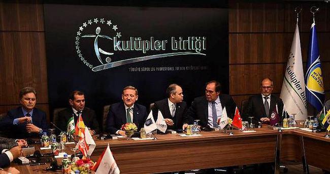 Süper Lig takımlarından ortak karar