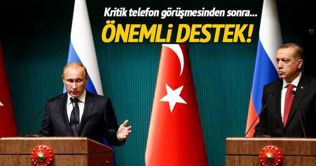 Putin Cumhurbaşkanı Erdoğan'ı aradı