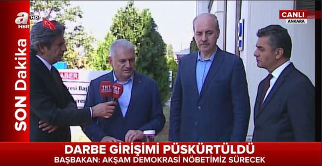 Başbakan Yıldırım TRT'yi ziyaret etti