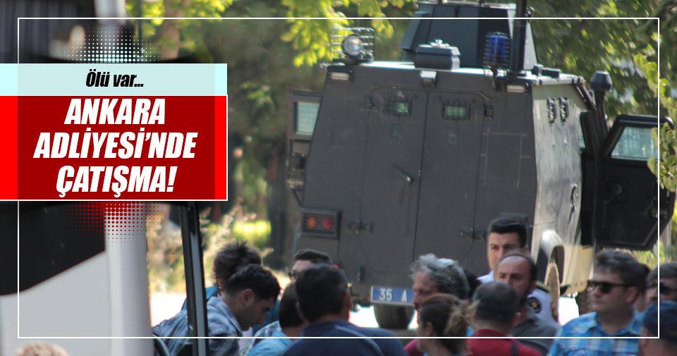 Ankara Adliyesi'nde bir asker etrafa ateş etti!