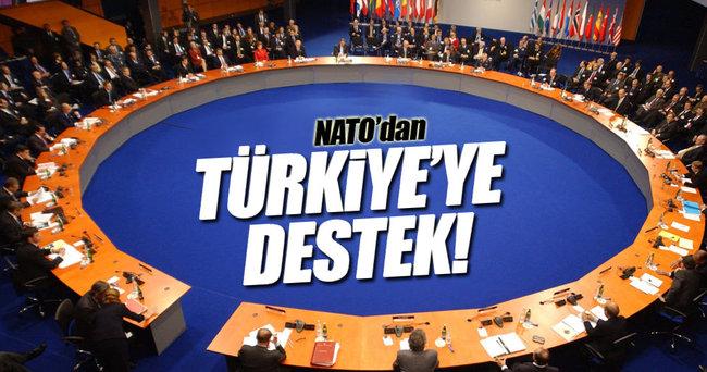 NATO'dan Türkiye'ye destek!