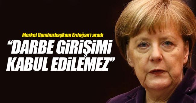 Merkel, Cumhurbaşkanı Erdoğan'ı aradı