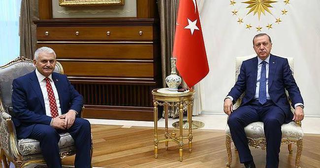 Cumhurbaşakanı Erdoğan, Başbakan Yıldırım ile görüştü