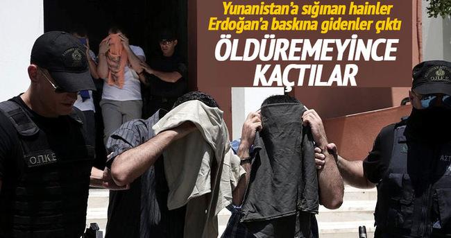 Cumhurbaşkanı'nı bulamayınca Yunanistan'a kaçtılar!