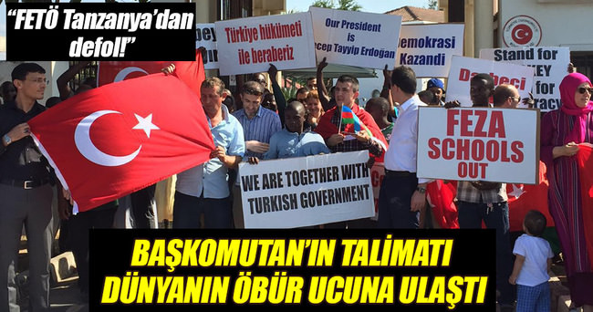 Dünyanın öbür ucundan Türkiye'ye destek mesajı