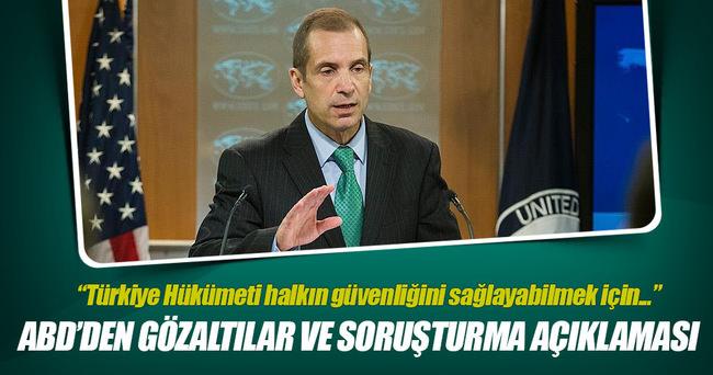 ABD'den Türkiye'de yürüyen darbe soruşturmasıyla ilgili açıklama