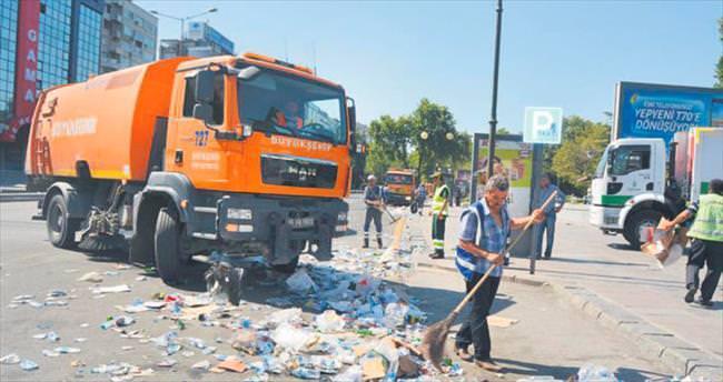 Kızılay'da 24 saat temizlik