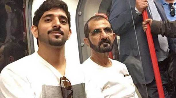 Dubai şeyhinden metro selfiesi