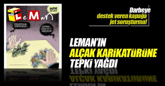 Leman'dan skandal darbe girişimi kapağı