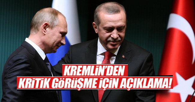 Kremlin, Erdoğan ile Putin görüşmesi için tarih verdi