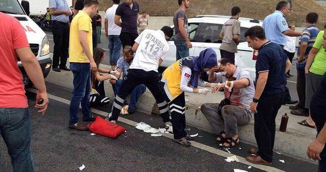 Bağcılar'da trafik kazası: 3'ü ağır 8 yaralı