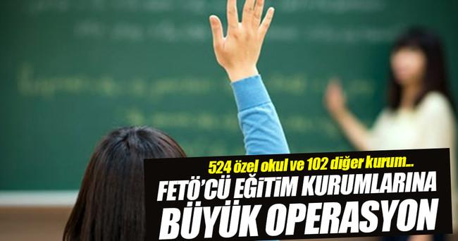 MEB'den FETÖ'cü eğitim kurumlarına büyük operasyon!