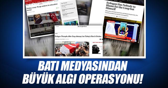 Batı medyasından büyük algı operasyonu!