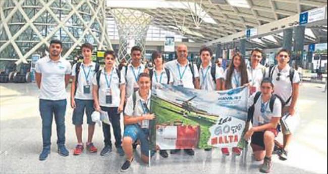 Havajet öğrencileri Malta'ya hareket etti