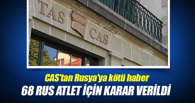 CAS'tan Rusya'ya kötü haber