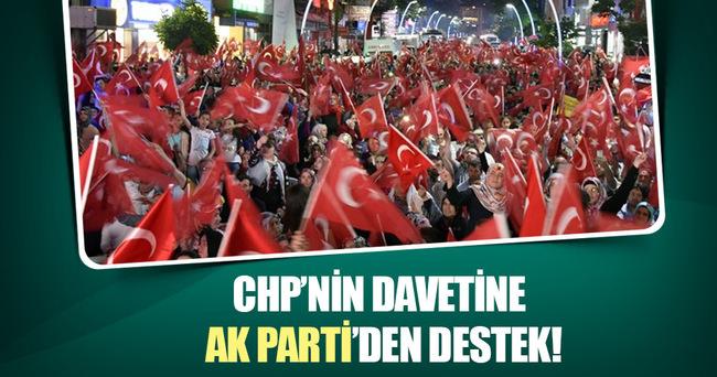 CHP'nin davetine AK Parti'den destek