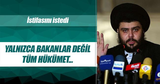 Sadr hükümetin istifasını istedi