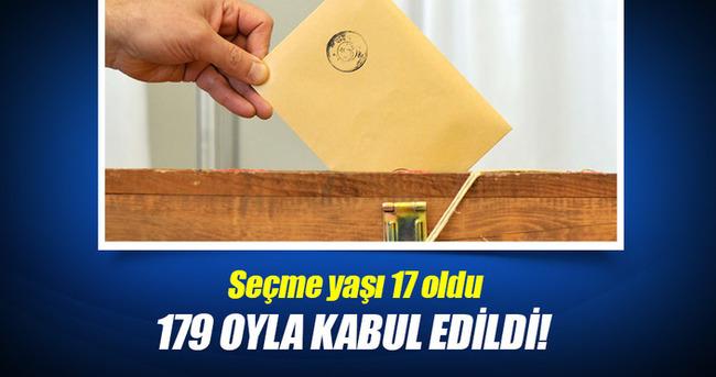 Yunanistan meclisi seçme yaşının 17'ye düşürülmesini ve seçimlerde basit temsili kabul etti