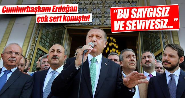 Cumhurbaşkanı Erdoğan çok sert konuştu