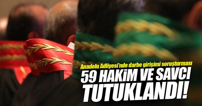 Anadolu Adliyesi'nde 59 hakim ve savcı tutuklandı