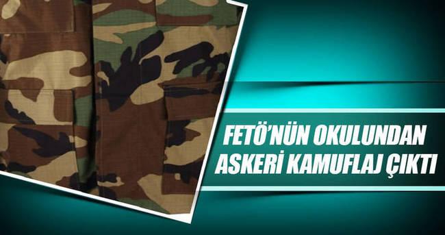 FETÖ'nün okulundan askeri kamuflaj çıktı