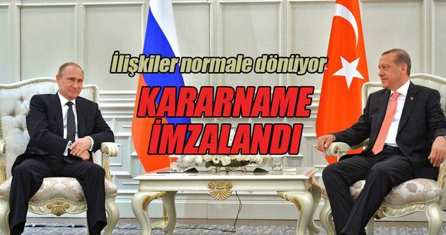 Türkiye-Rusya arasındaki ekonomik ilişkiler normale dönüyor