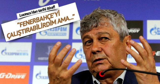 Lucescu'dan Fenerbahçe itirafı!