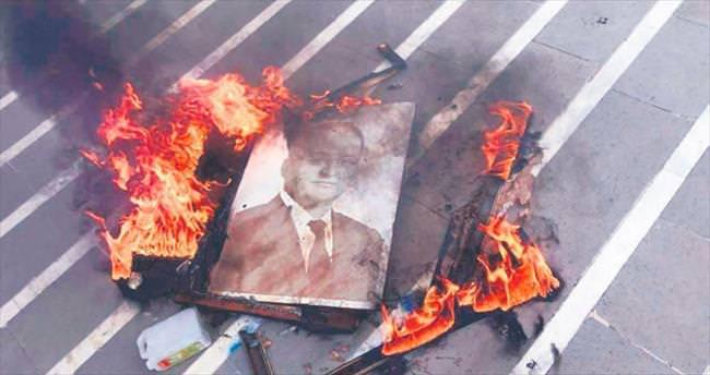 Portresi yakıldı gözaltına alındı