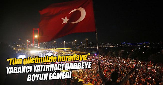 Yabancı yatırımcıdan Türkiye'ye güven mesajı