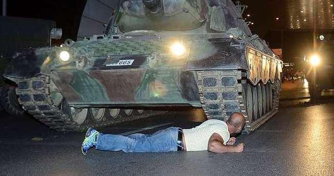 Tankları durdurmak için aynısını yüzlerce kez yaparım