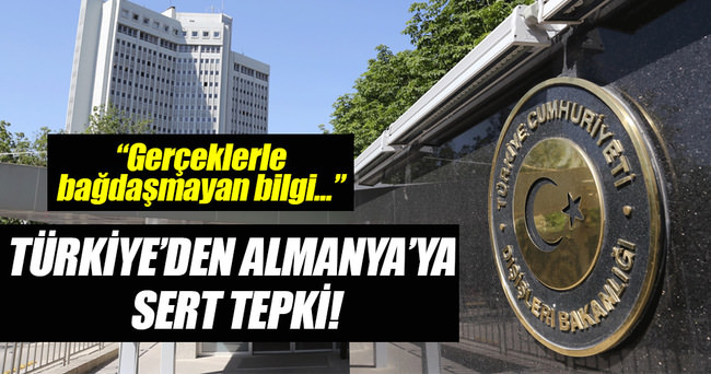 Türkiye'den Almanya'ya tepki