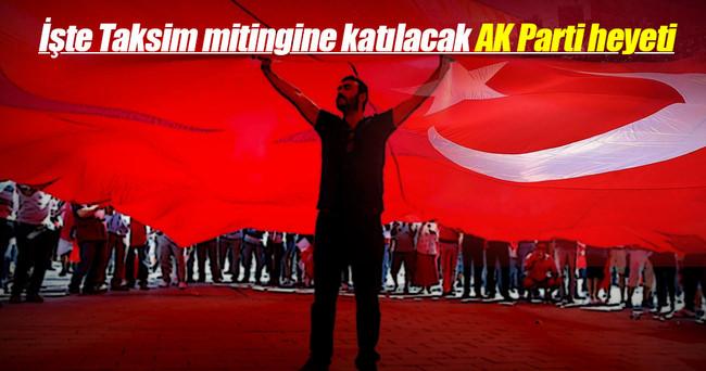 İşte CHP'nin mitingine AK Parti heyeti