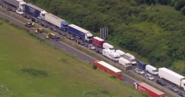 İngiliz tatilcilerin trafik çilesi